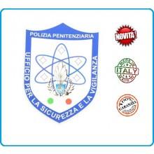 Patch Toppa con Velcro Plastificata Polizia Penitenziaria Ufficio per la Sicurezza Art.T-PPUS