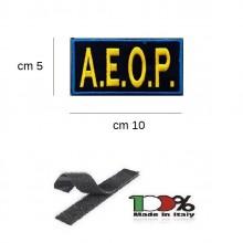 Patch Toppa Ricamata con Velcro A.E.O.P. Ass. Europea operatori di Polizia cm 5x10 Art.AEOP-TOP5