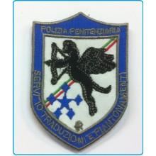 Patch Toppa con Velcro Ricamata Polizia Penitenziaria Servizio Traduzioni Art.T-PPTR