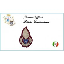 Fregio Canuttiglia F. Rosso per Berretto Ufficiali Polizia Penitenziaria Art.NSD-UPP