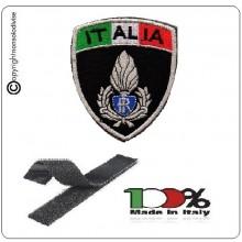Patch Scudetto Ricamo a Macchina Con Velcro Italia + polizia Penitenziaria  Art.NSD-IT-PP