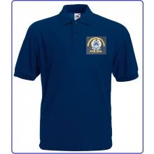 Polo Blu Nevy Manica Corta Ricamo A.E.O.P. Associazione europea Operatori di Polizia Art.NSD-P-AEOP