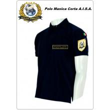 Polo Blu Manica Corta A.I.S.A. con o Senza Toppe Art.NSD-PAISA
