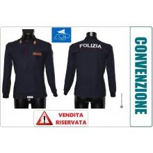 Polo Operativa Manica Lunga POLIZIA DI STATO Cotone 100% VENDITA RISERVATA TESSERATI SAP Art.POLO-PSL-SAP