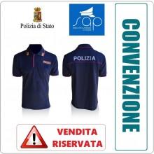 Polo Polizia di Stato Manica Corta Stradale Volante Squadra Mobile Modello Nuovo VENDITA RISERVATA OFFERTA SAP  Art.NSD-POLO-PS-SAP