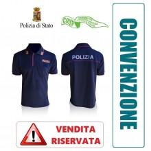 Polo Polizia di Stato Manica Corta Stradale Volante Squadra Mobile Modello Nuovo VENDITA RISERVATA OFFERTA COISP  Art. NSD-POLO-PS-COISP