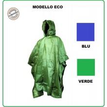 Telo Poncho Impermeabile Antipioggia Pioggia Verde Economico Fostex Temporale Militare Soft Air Caccia Pesca Art.325235