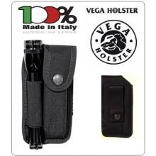 Porta Oggetti da Cinturone Caricatore Coltello Bomboletta + Porta Pila ad Elastico Vega Holster Italia Art.2P79