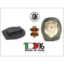 Placca Da Cintura in Cuoio con Placca Metallo Croce Rossa Italiana CRI Vega Holster Italia Art.1WA117