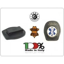 Placca Da Cintura in Cuoio con Placca Metallo Pubblica Assistenza Croce Esculapio 118 Soccorso Vega Holster Italia Art.1WA51