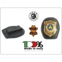 Placca Da Cintura in Cuoio con Placca Metallo Protezione Civile Volontari Nazionale Vega Holster Italia  Art.1WA115NEW