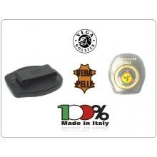 Placca Da Cintura in Cuoio con Placca Metallo Protezione Civile Volontari Nazionale Vega Holster Italia  Art.1WA35NEW