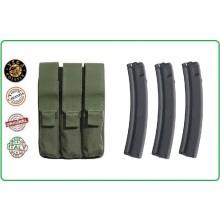 Porta Caricatore a Tre Posti H&K MP5 Vega holster Italia Art.2SM16