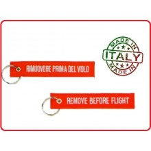 Portachiavi a Nastro Remove Before the Flight Rimuovere Prima del Volo Art.KC 001