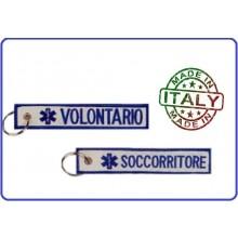 Portachiavi a Nastro Volontario Soccorritore Prodotto Italiano  Art.05014 kc 053