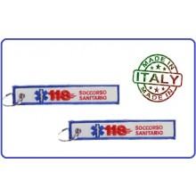 Portachiavi 118 Soccorso Sanitario Soccorso Sanitario Prodotto Italiano Art.05014 kc 065