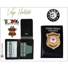 Portafoglio Portadocumenti Con Placca CRI Croce Rossa Italiana Vega Holster Italia Art.1WD117
