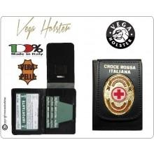 Portafoglio Portadocumenti con Placca CRI Croce Rossa Italiana Vega Holster Italia Novità Art.1WD149