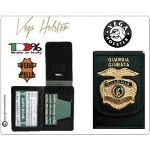 Portafoglio Portadocumenti con Placca Guardia Giurata Vega Holster Italia  Art.1WD73