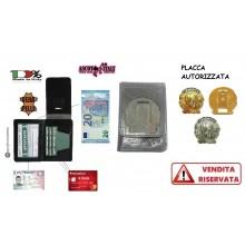 Portafoglio Porta Placca Vera Pelle Portadocumenti Carabinieri Tutto Nero Ascot Italia New  Art. 600CC-au