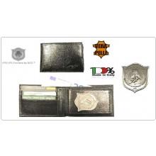 Portafoglio Pelle Portadocumenti GPG IPS PANTERA®  Guardia Particolare Giurata Incaricato di Pubblico Servizio Modello Plus Extra  Ascot Italia Art.560-PANTERA