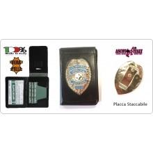 Portafoglio Portadocumenti con Placca Estraibile Soccorso Sanitario ANPAS Staff Ascot Italia New Art.600PP-ANPAS