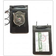 Porta Placca Portaplacca da Collo GPG IPS AQUILA® Guardia Particolare Giurata Incaricato di Pubblico Servizio New NSD PLACCA FISSA Art.602-AQ-N