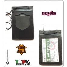 Porta Placca Portaplacca da Collo per Polizia di Stato PS Operativi SENZA PLACCA LIBERA VENDITA Ascot Italia Art.602PS