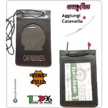 Porta Placca Portaplacca da Collo per Carabinieri CC Operativi SENZA PLACCA LIBERA VENDITA Ascot Italia Art.602CC