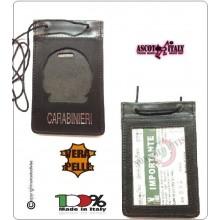 Porta Placca Portaplacca da Collo per Carabinieri CC Operativi SENZA PLACCA LIBERA VENDITA Ascot Italia + CATENELLA  Art.602CC-CAT