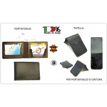 Portafoglio Neutro + Pattina Estraibile 1WH  POLIZIA CARABINIERI G di F. VIGILI DEL FUOCO PENITENZIARIA Vega Holster Italia  Art.1WE+1WH-OPERATIVI