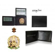 Portafoglio Pelle Portadocumenti con Placca Guardia di Finanza G. di F. VENDITA RISERVATA  Modello Plus Extra Ascot Italia Art.260GDF