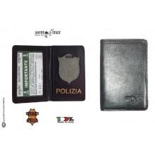 Portadocumenti + Portafoglio per Placca Operativa Polizia di Stato  Ascot Italy Novità Art. 601PS