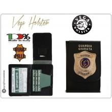 Portafoglio Portadocumenti con Placca Guardia Giurata Vega Holster Italia   Art.1WD110