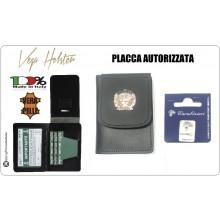 Portafoglio con Placca Carabinieri CC Vega Holster con Placca Giemme CC Tonda Art.1WD-CC-TONDA