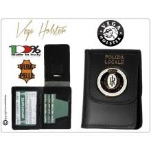 Portafoglio Portadocumenti con Placca Polizia Municipale VENDITA RISERVATA Vega Holser Italia Art.1WD41