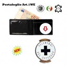 Portafoglio con Placca Estraibile Croce Blu Vega Holster Art.1WE57
