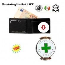 Portafoglio con Placca Estraibile Croce Verde Vega Holster Art.1WE56