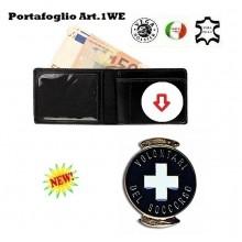 Portafoglio con Placca Estraibile Croce Bianca Vega Holster Art.1WE58