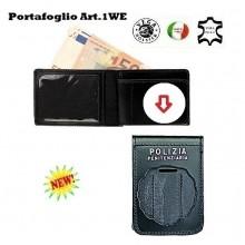 Portafoglio con  Placca Estraibile Polizia Penitenziaria Operativa  Art.1WE10