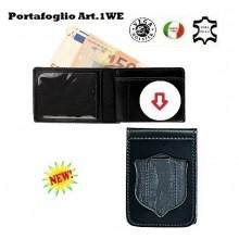Portafoglio con  Placca Estraibile Polizia di Stato Operativa  Art.1WE86