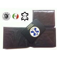 Portafoglio Portadocumenti con Placca Estraibile Soccorso Sanitario  Croce Esculapio Vega Holster Italia Art.1WG51