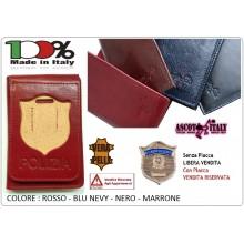 Portafoglio Portadocumenti Pelle con o Senza Placca Polizia di Stato PS Ascot Italia  New Art.600PS