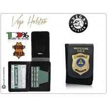Portafoglio Portadocumenti con Placca Protezione Civile Volontariato Nazionale 1WD115 Vega Holster Italia Art.1WD115NEW