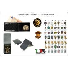 Portafoglio Porta Foglio Porta Documenti Portadocumenti con Pattina Estraibile 1WH Vega Holster Italia SCEGLI LA TUA PLACCA Art.1WE-TUTTE