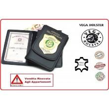 Portafoglio Portadocumenti con Placca Agenzia Entrate VENDITA RISERVATA Vega Holster Italia Art.1WD112