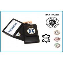 Portafoglio Portadocumenti con Placca Pubblica Assistenza Croce Esculappio Vega Holster Art.1WD51