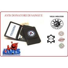 Portafoglio Portadocumenti con Placca AVIS Volontari Donatori di Sangue Vega Holster Italia Art.1WD53