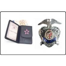 Portafoglio Portadocumenti Polizia Americana Police Los Angeles Argento LIBERA VENDITA Art.1WDPLAA