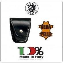 Porta Manette Chiuso Pelle Nera 0 Bianca Vega Holster Italia  Art.1P25